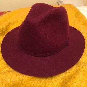 J Crew Maroon Felt Hat